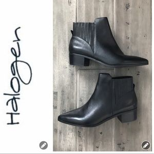 NWOT Halogen Leather Skylar Booties